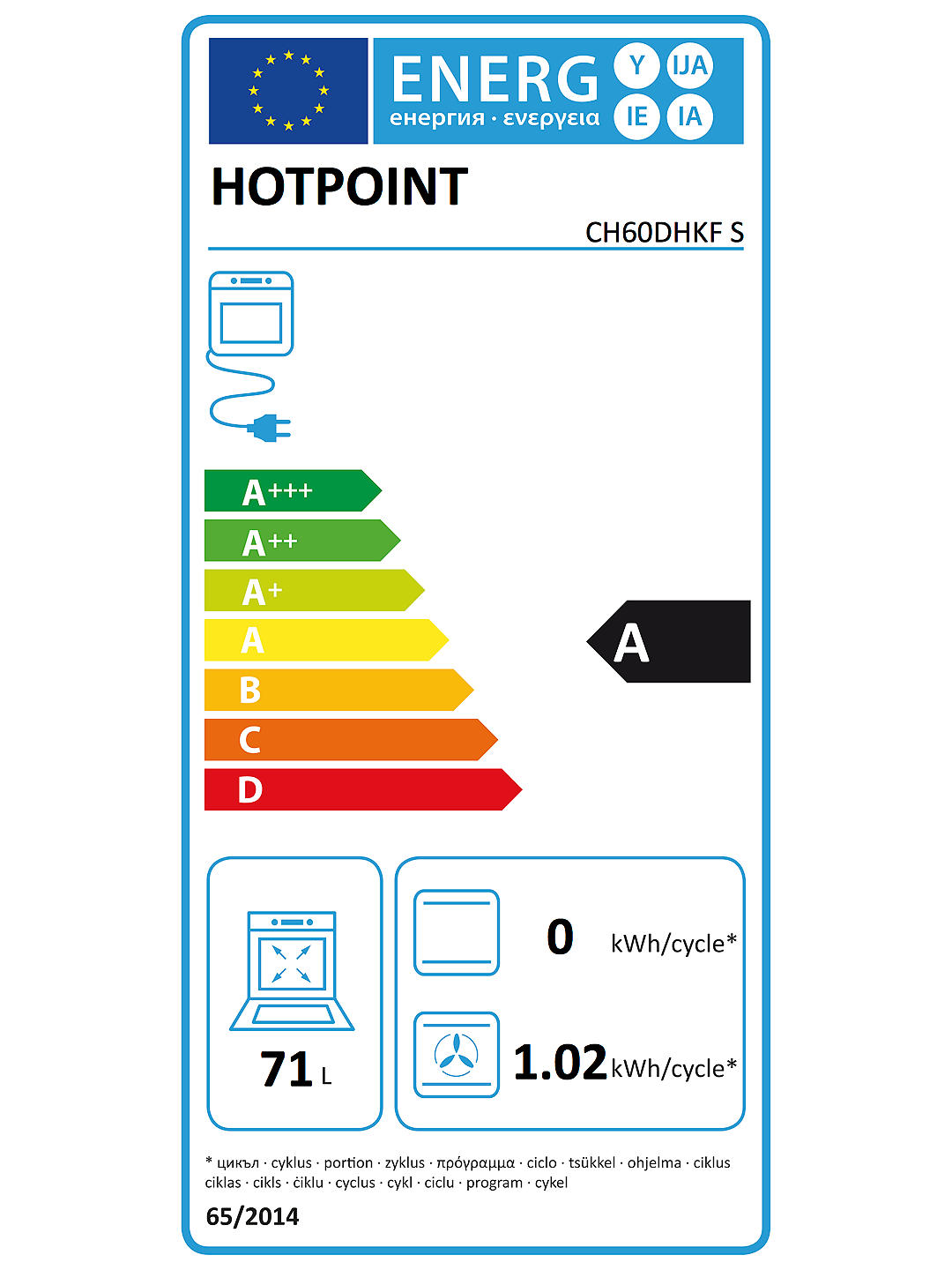 Buy Hotpoint CH60DHKF 60cm Double Dual Fuel Cooker, A Energy Rating, Black Online at johnlewis.com