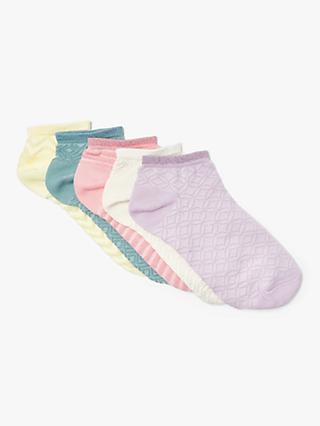 5be71b0d967 John Lewis   Partners Textured Pastels Trainer Socks