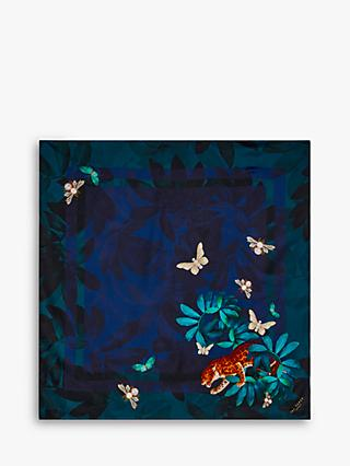 Ted Baker Leeanna Floral Silk Square Scarf, Navy/Multi