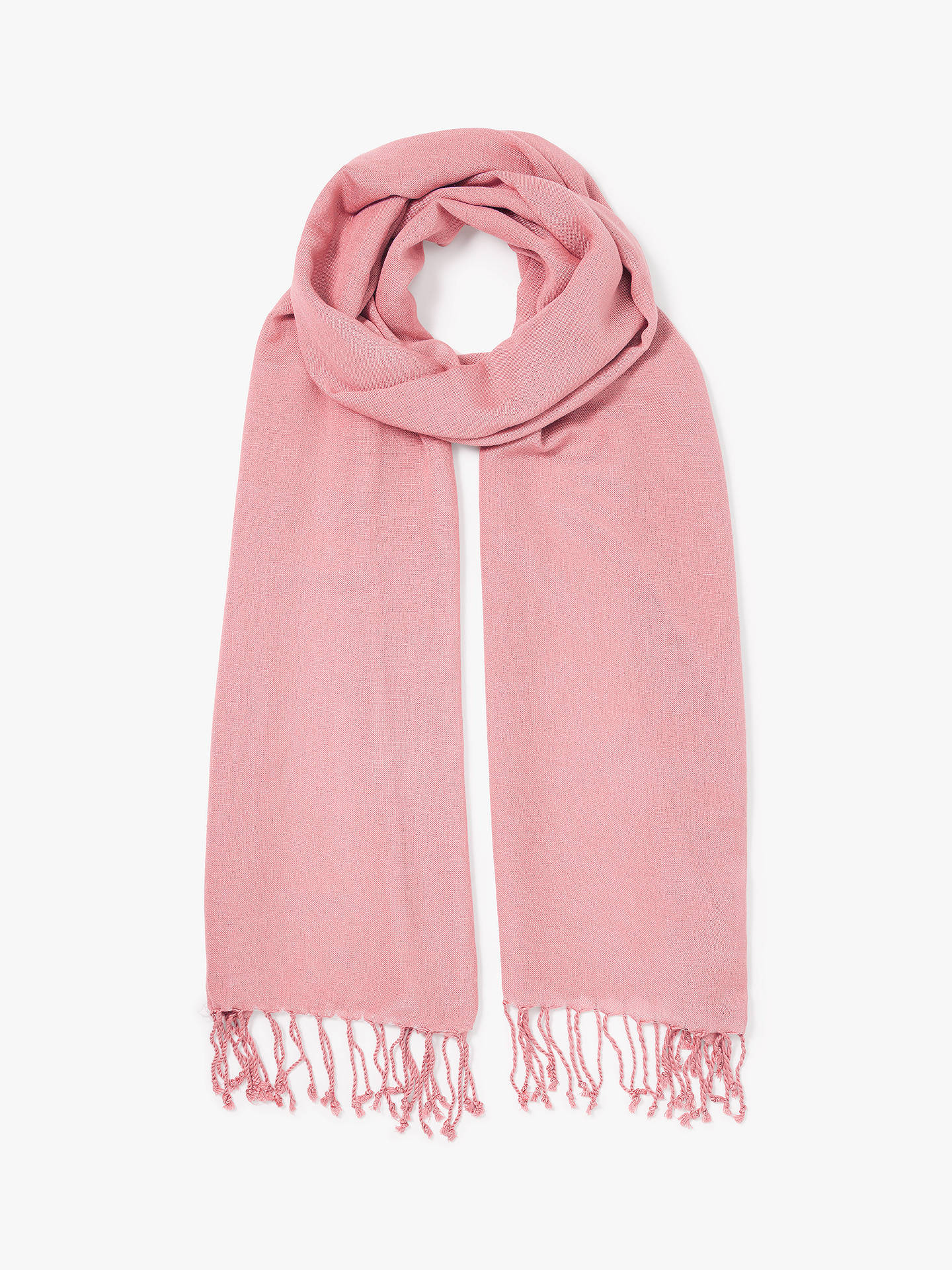 Buy John Lewis & Partners Wool Mix Occasion Scarf, Light Coral Online at johnlewis.com