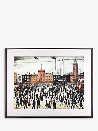 LS Lowry - Going To Work 1943 Framed Print & Mount, 64.8 x 80.2cm