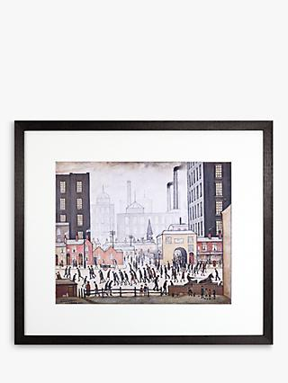 LS Lowry - Coming From The Mill 1930 Framed Print & Mount, 44 x 50.8cm