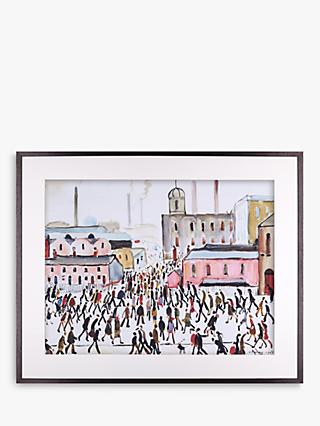 LS Lowry - Going To Work 1959 Framed Print & Mount, 64.8 x 80.2cm