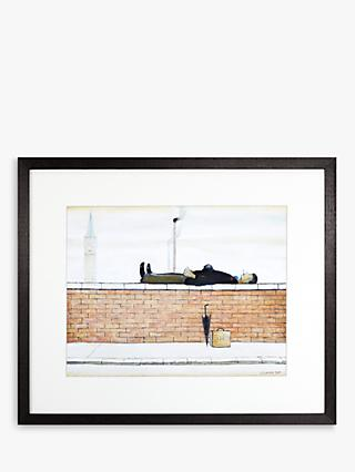LS Lowry - Man Lying On A Wall 1927 Framed Print & Mount, 44 x 50.8cm