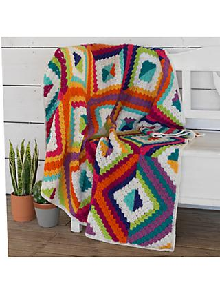 West Yorkshire Spinners Summer's Dawn Blanket Crochet Pattern