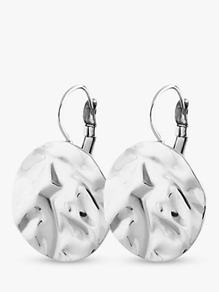 DYRBERG/KERN Zaela French Hook Hammered Circle Drop Earrings