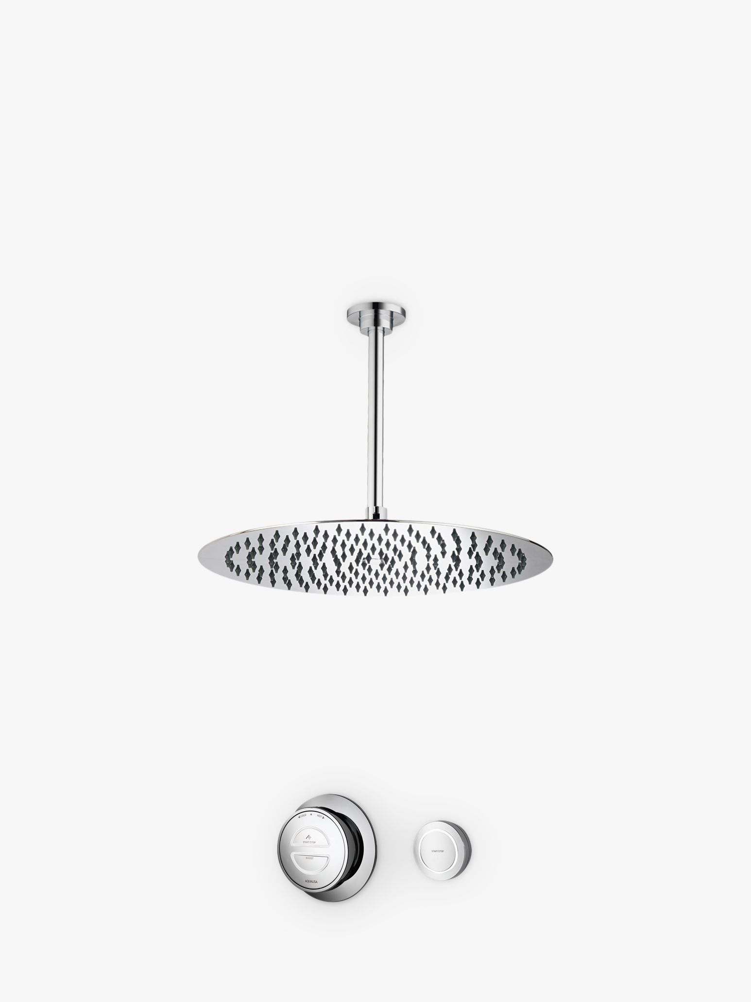 Aqualisa Aqualisa Rise Digital Concealed HP/Combi Shower with Ceiling Fixed Head, Dia.25cm