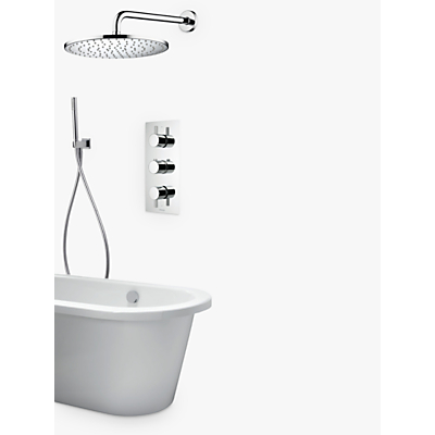 Image of Aqualisa Rise DCV Hand Shower with Wall Fixed Head and Bath Filler