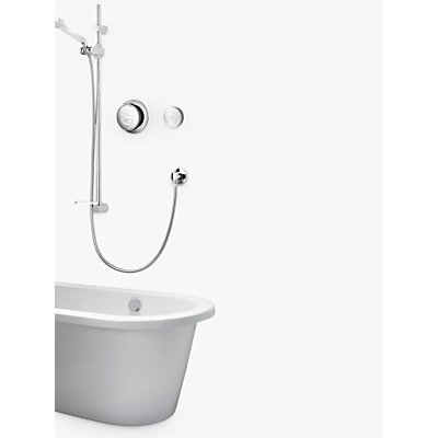 Image of Aqualisa Rise Digital Concealed HP/Combi Vita Hand Shower & Bath Filler