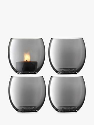 cd1e537d92 LSA International Zinc Lustre Tealight Holder, Grey, Set of 4