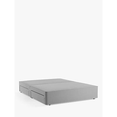 John Lewis & Partners Natural Collection Pocket Sprung 4 Drawer Storage, Double Upholstered Divan Base, FSC-Certified (Pine)