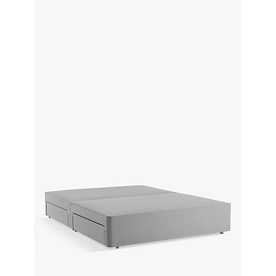 John Lewis & Partners Natural Collection Pocket Sprung 4 Drawer Storage, Small Double Upholstered Divan Base, FSC-Certified (Pine)