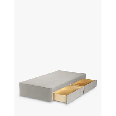 John Lewis & Partners Natural Collection Pocket Sprung 2 Drawer Storage, Single Upholstered Divan Base, FSC-Certified (Pine)