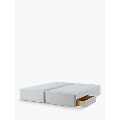 John Lewis & Partners Natural Collection Pocket Sprung 2 Drawer Storage, Super King Size Upholstered Divan Base, FSC-Certified (Pine)
