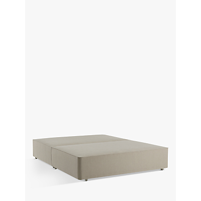 John Lewis & Partners Natural Collection Pocket Sprung, Double Upholstered Divan Base, FSC-Certified (Pine)