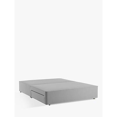 John Lewis & Partners Natural Collection Pocket Sprung 2 Drawer Storage, King Size Upholstered Divan Base, FSC-Certified (Pine)