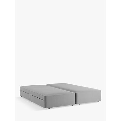 John Lewis & Partners Natural Collection Pocket Sprung 4 Drawer Storage, Super King Size Upholstered Divan Base, FSC-Certified (Pine)