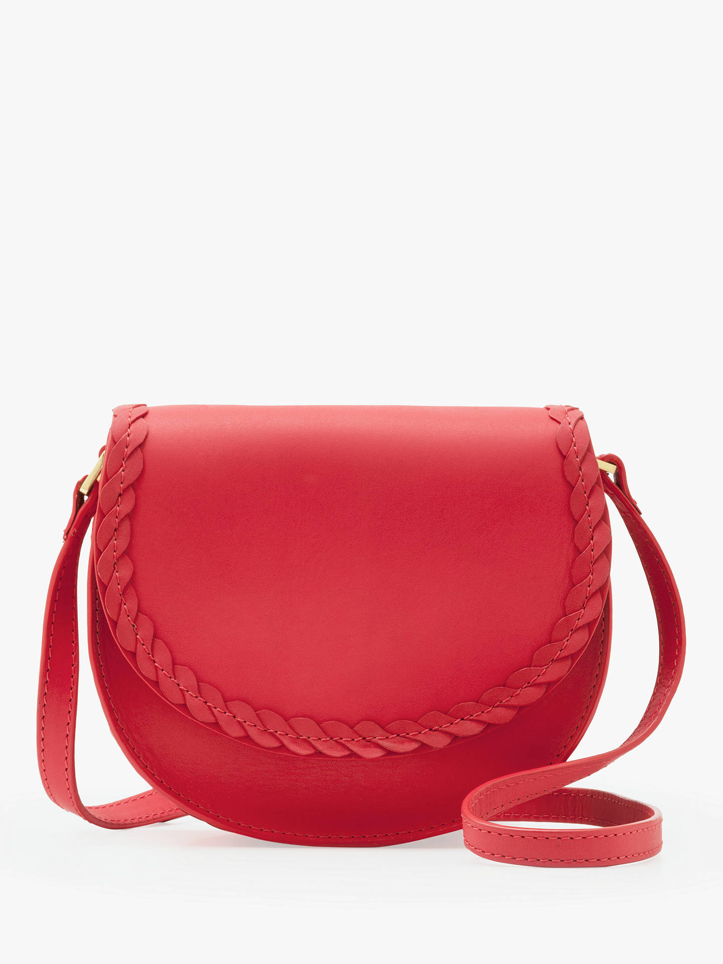 f30fdad13df7 Buy Boden Lingfield Mini Leather Saddle Bag, Sunset Online at johnlewis.com  ...