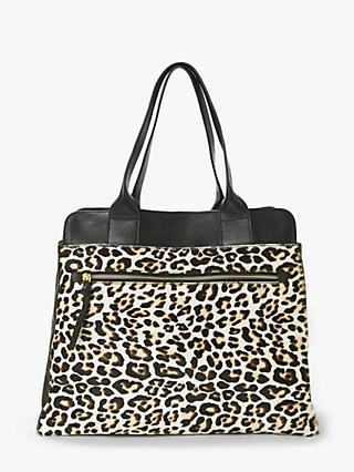 0a65c142349b Boden Sherborne Leopard Print Leather Tote Bag