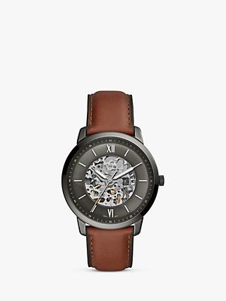 37b932d1e80f Fossil ME3161 Men s Neutra Skeleton Automatic Leather Strap Watch