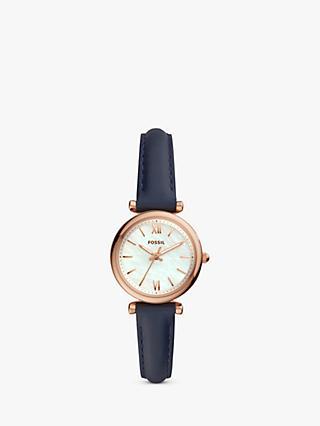 a7c85b8ec2d Fossil ES4502 Women s Carlie Leather Strap Watch