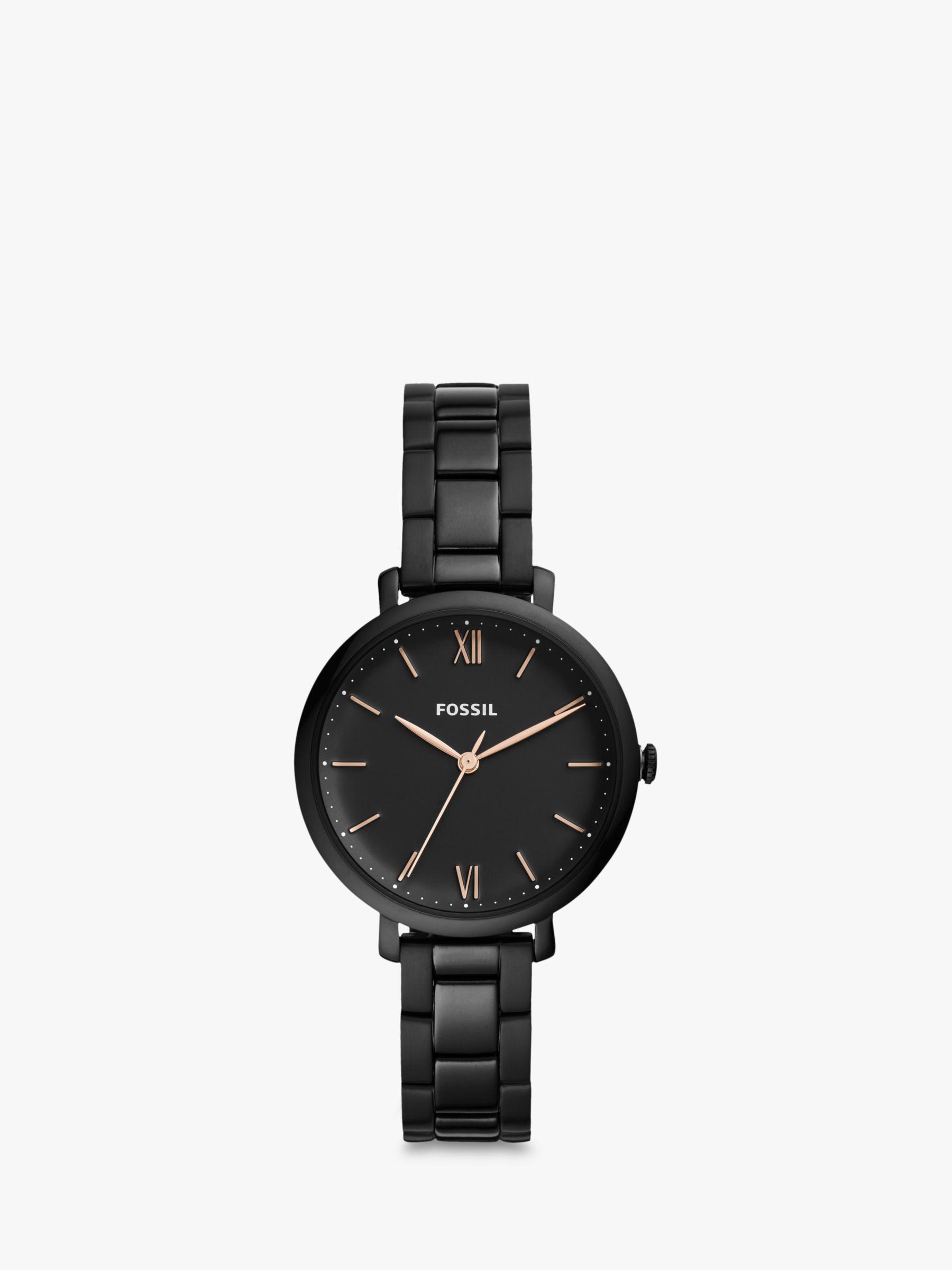Fossil Fossil ES4511 Women's Jacqueline Bracelet Strap Watch, Black