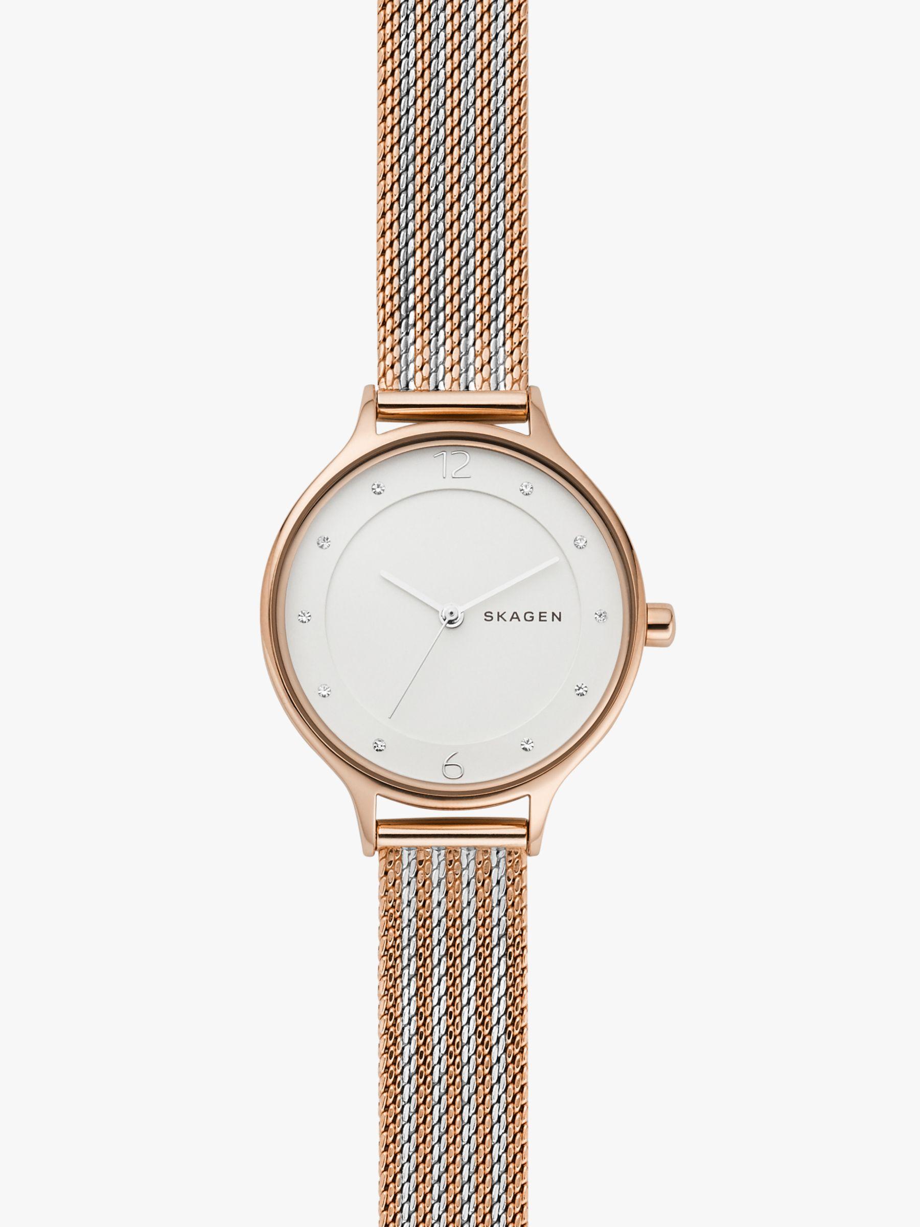 skagen Skagen Women's SKW2749 Two Tone Bracelet Strap Watch, Rose Gold