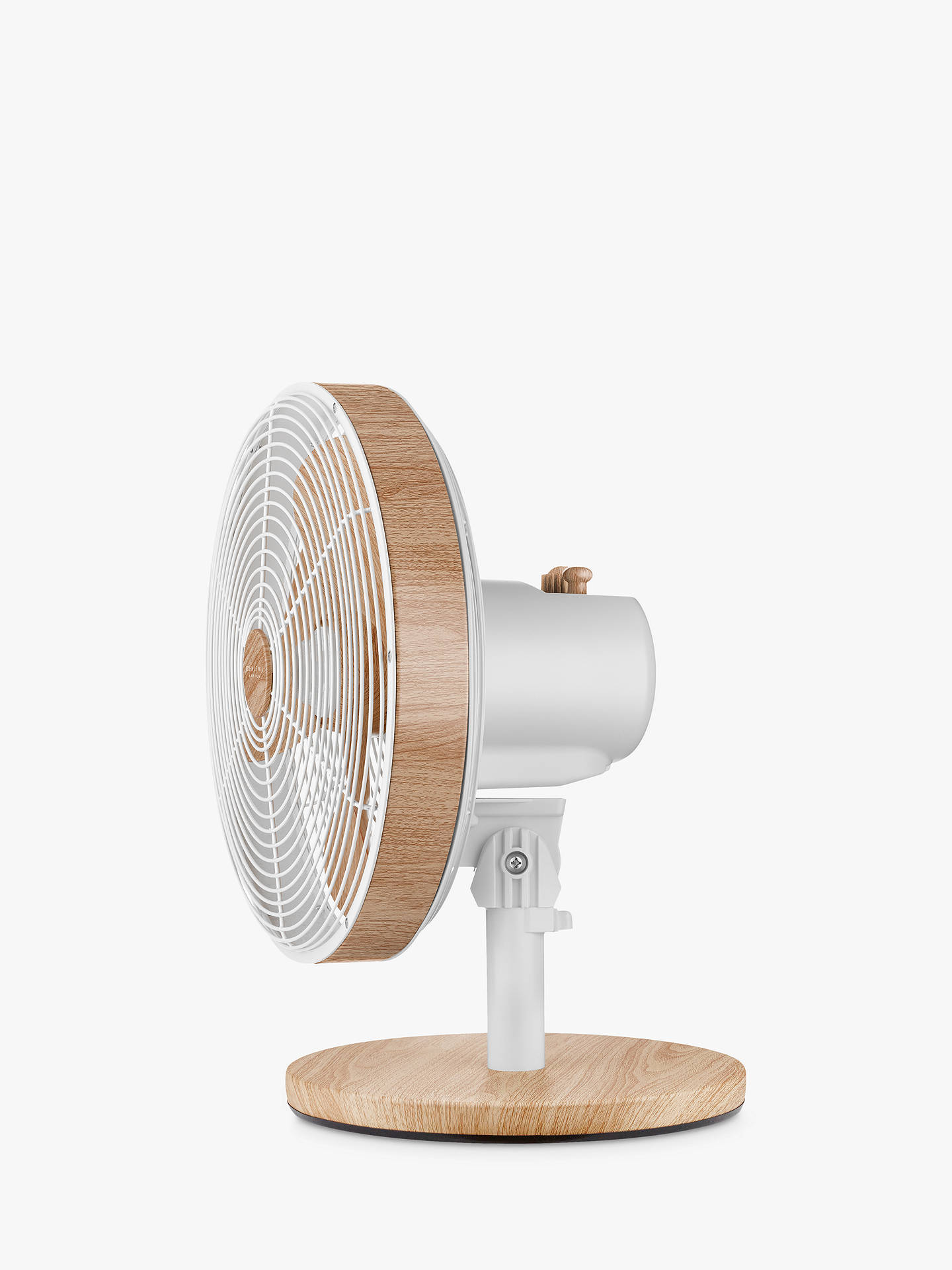 "Buy John Lewis & Partners 12"" Desk Fan, Oak/White Online at johnlewis.com"