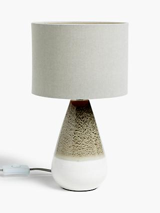 Croft Collection Potter Mini Ceramic Table Lamp, Green