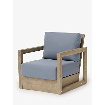 KETTLER Ezra Garden Armchair, FSC-Certified (Acacia Wood), Natural/Blue
