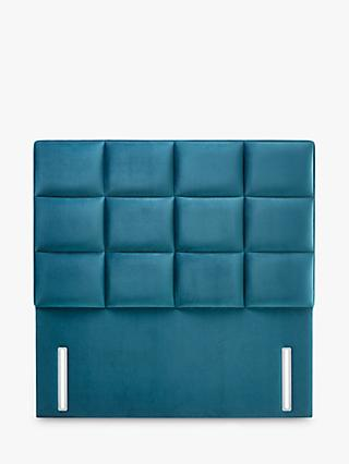 John Lewis & Partners Natural Collection Gloucester Upholstered Headboard, King Size, Opulence Teal