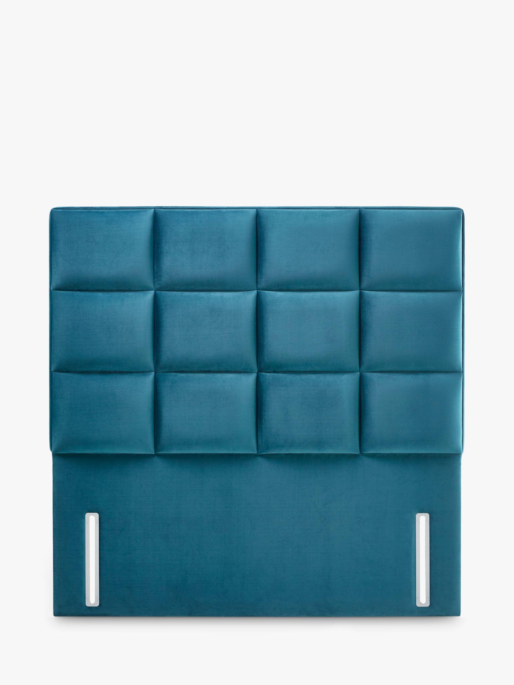 John Lewis Partners Natural Collection Gloucester Upholstered Headboard Super King Size Opulence Teal At John Lewis Partners