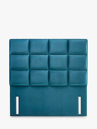 John Lewis & Partners Natural Collection Gloucester Upholstered Headboard, Large Emperor, Opulence Teal