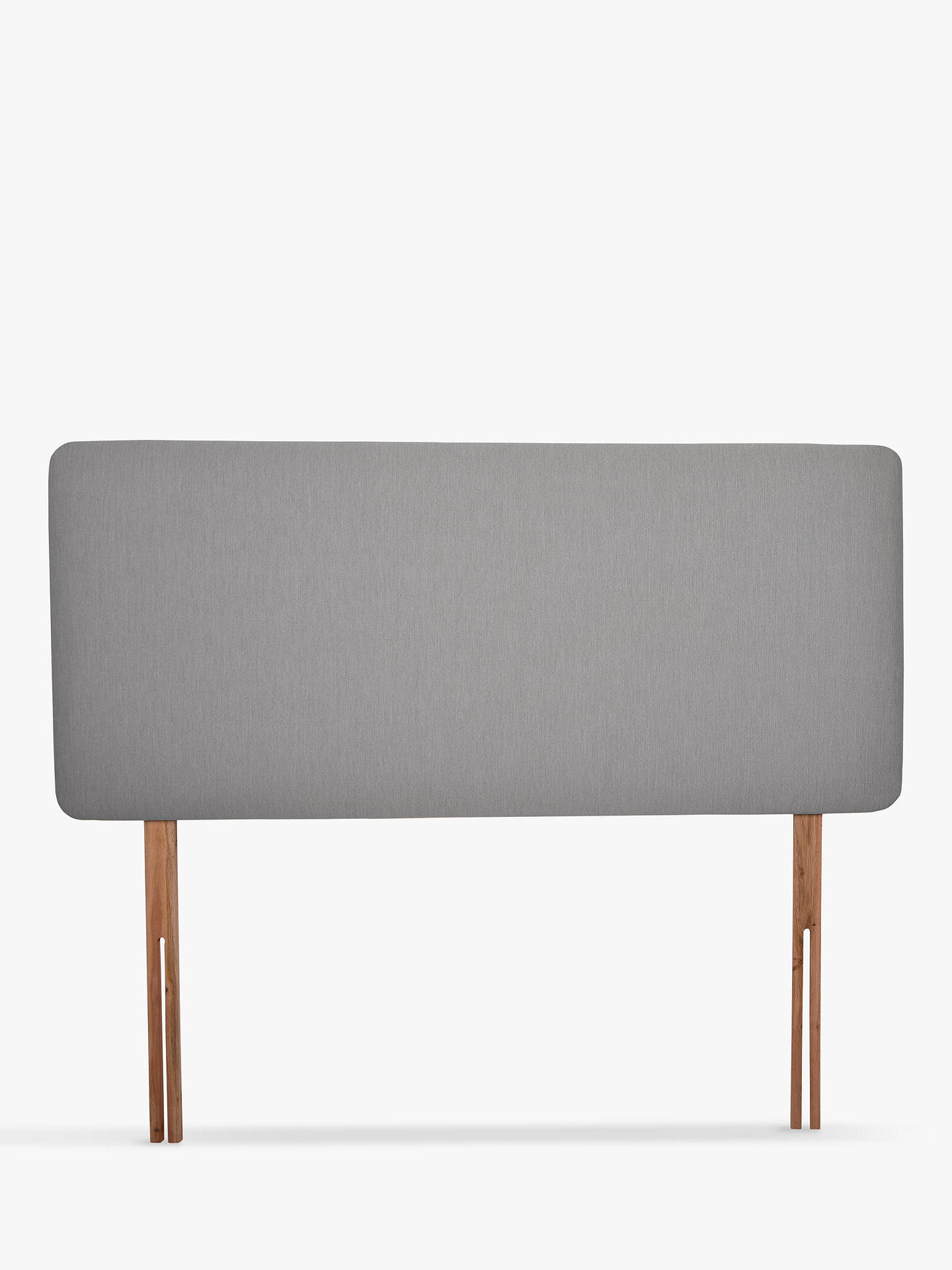 official photos 7bab4 10431 John Lewis & Partners Sonning Upholstered Headboard, King Size, Canvas  Steel Grey