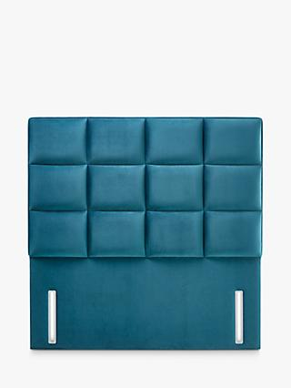 John Lewis & Partners Natural Collection Gloucester Upholstered Headboard, Double, Opulence Teal