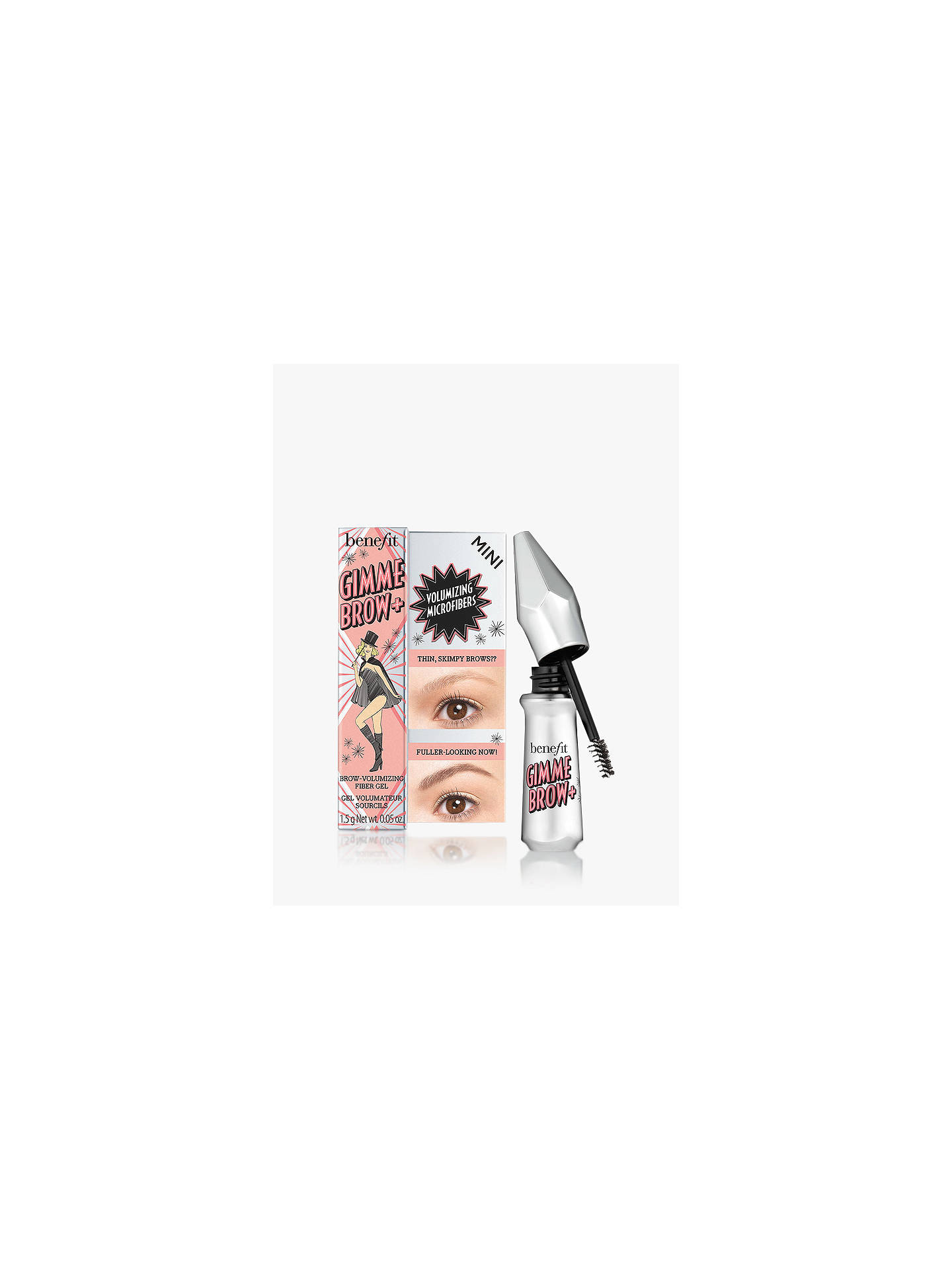 769fba1a1b0 Buy Benefit Gimme Brow+ Volumising Eyebrow Gel Travel Sized Mini, 1 Light  Online at johnlewis ...