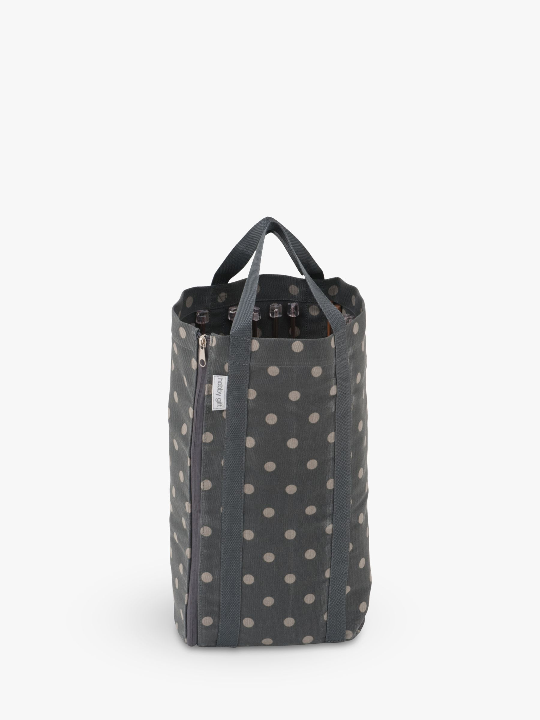 Groves Groves Reversible Knitting Craft Bag, Grey