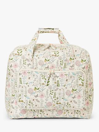 John Lewis & Partners Floral Print Sewing Machine Bag, Cream