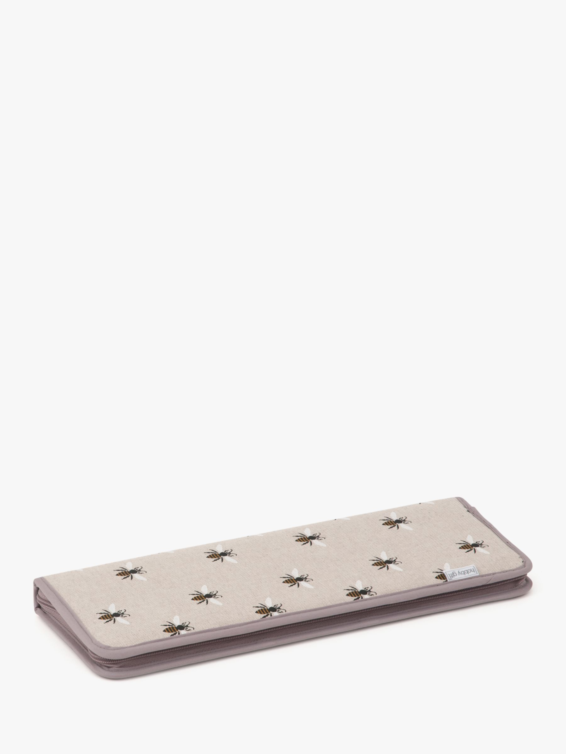 Groves Groves Bee Print Knitting Pin Case, Grey