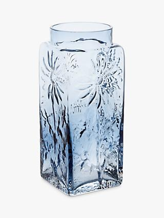 Dartington Crystal Marguerite Extra Large Vase, Ink Blue, H21cm