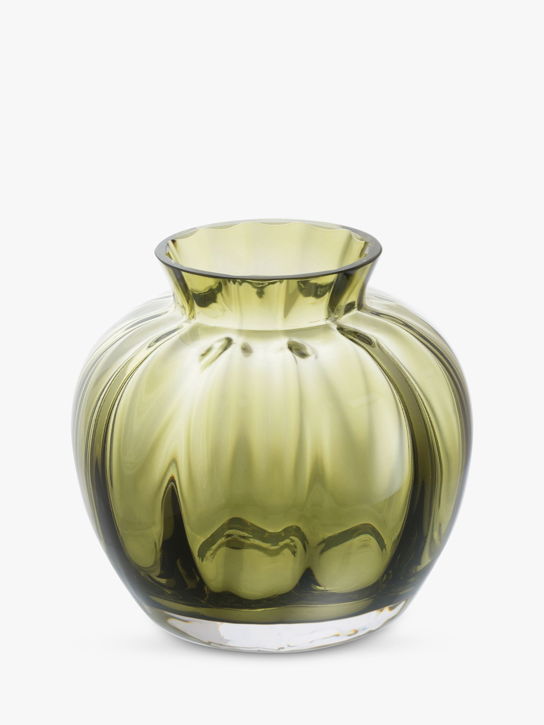 Dartington Crystal Dartington Crystal Little Treasures Posy Pot Vase, Olive