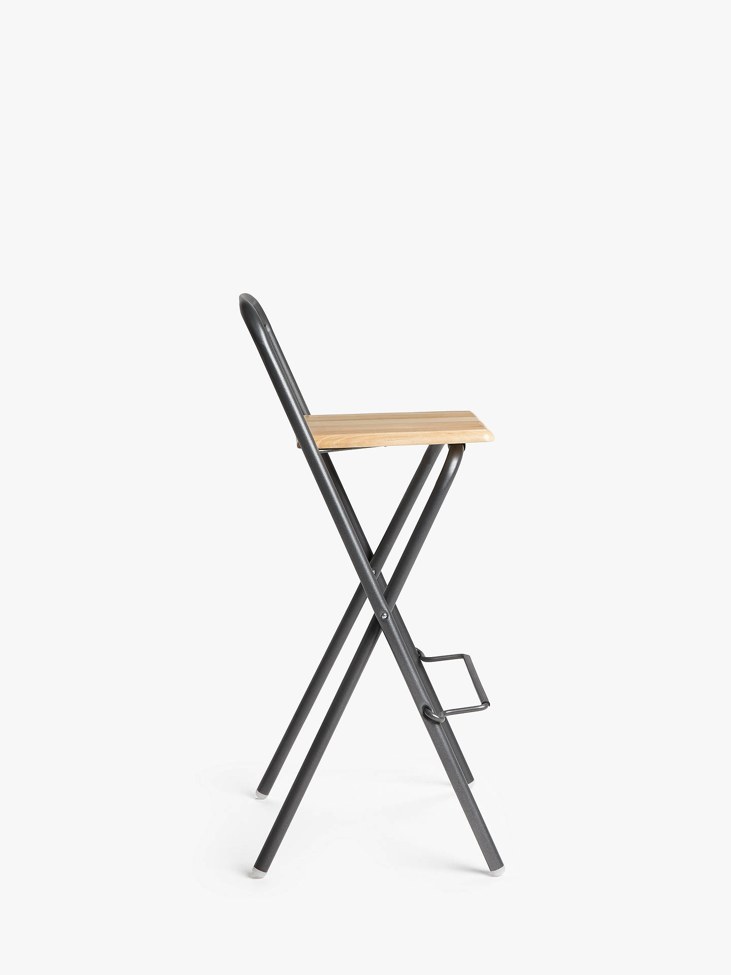 Fiam Folding Bar Stool, Grey