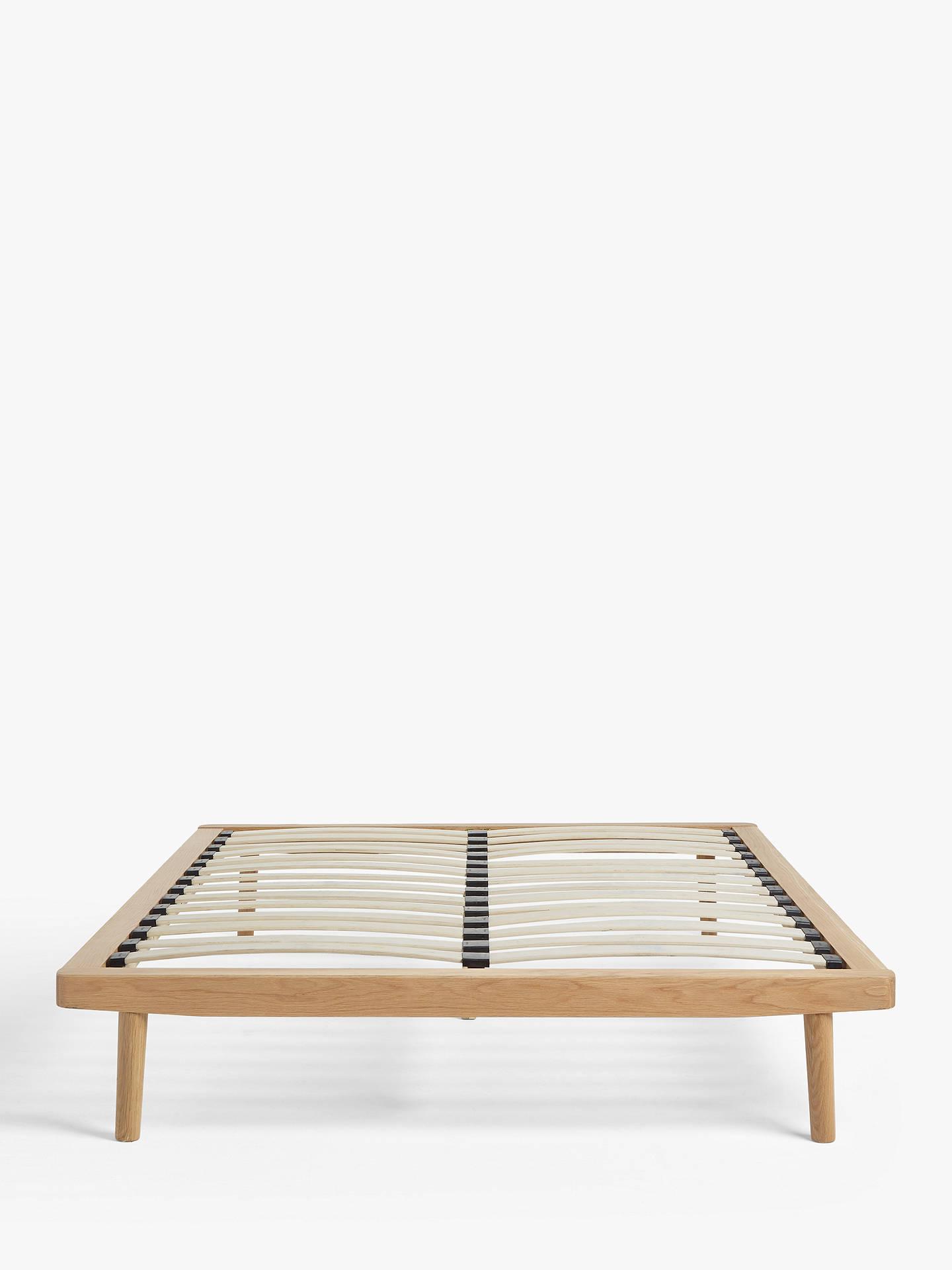 House By John Lewis Bow Platform Bed Frame Double Oak Natural At John Lewis Partners