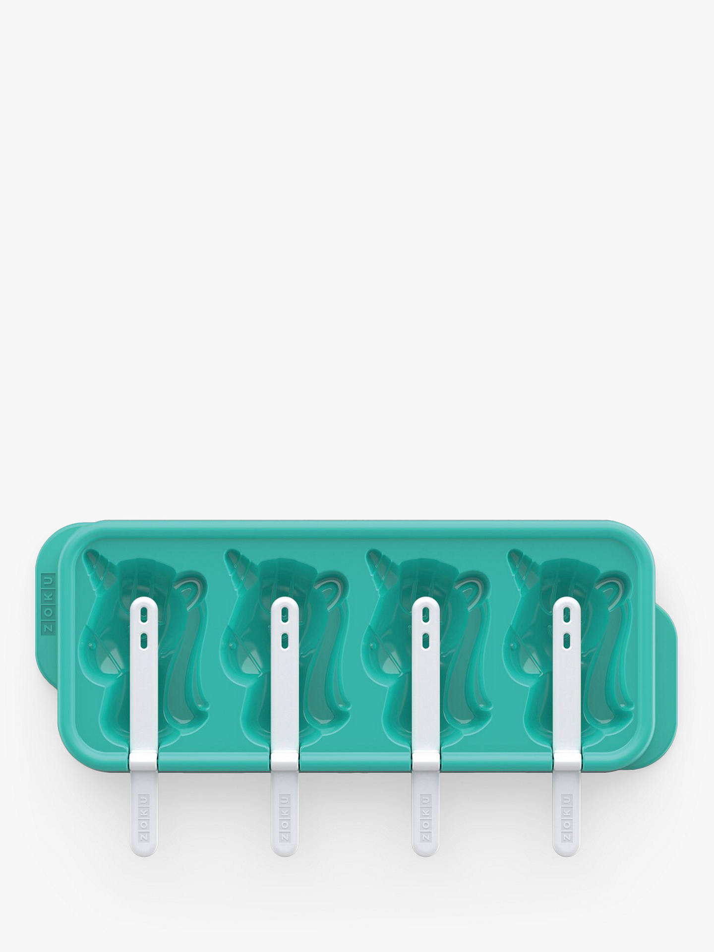 Buy Zoku Unicorn 4 Ice Lolly Mould, Blue Online at johnlewis.com
