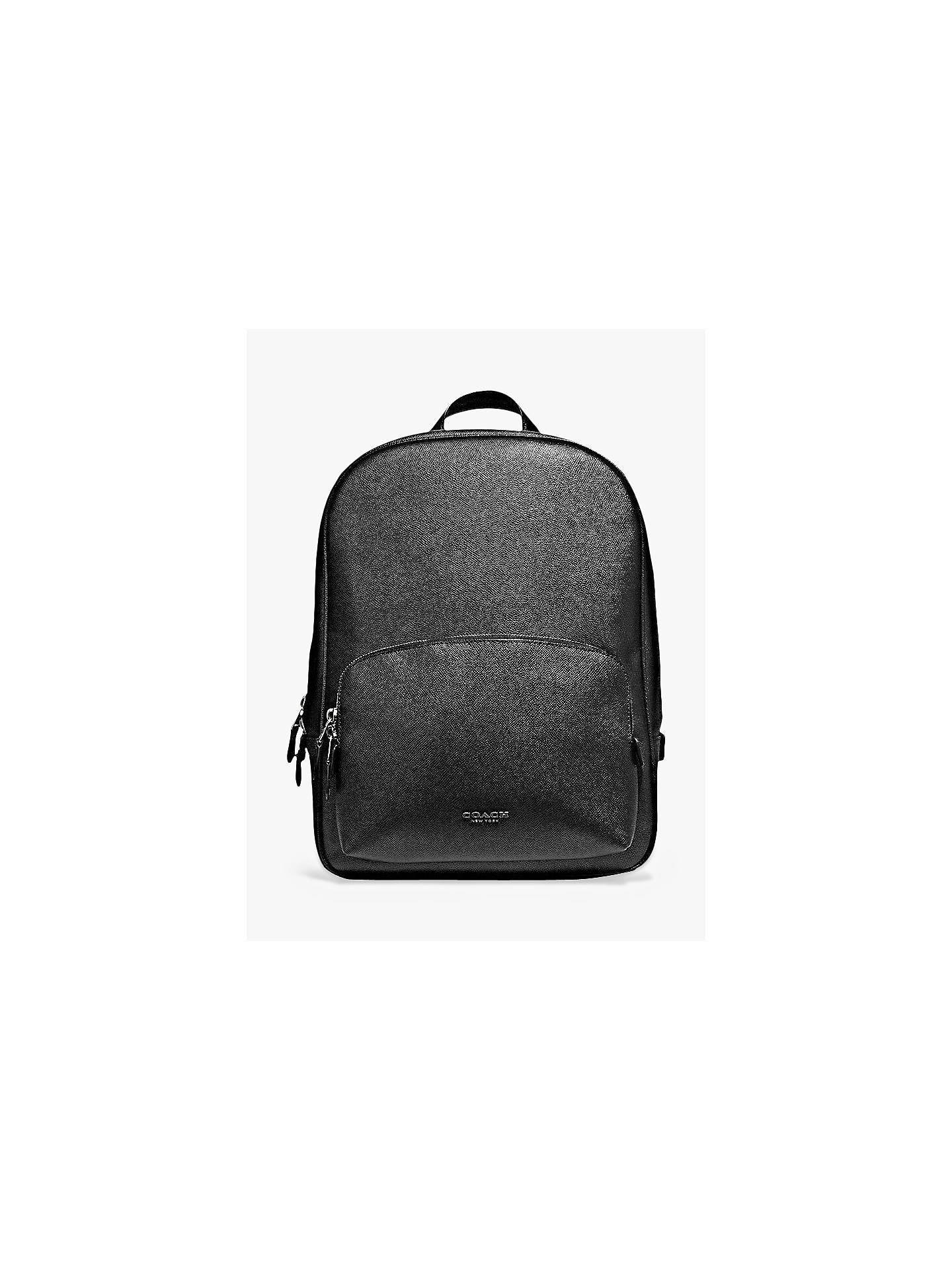 25d63bf58e Coach Kennedy Leather Backpack, Black