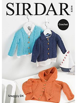 9b08c5b72b8a1 Sirdar Snuggly DK Baby Cardigan Crochet Pattern