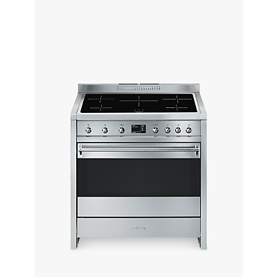 Image of Smeg A1PYID-9 90cm Electric Range Cooker, A+ Energy Rating, Stainless Steel