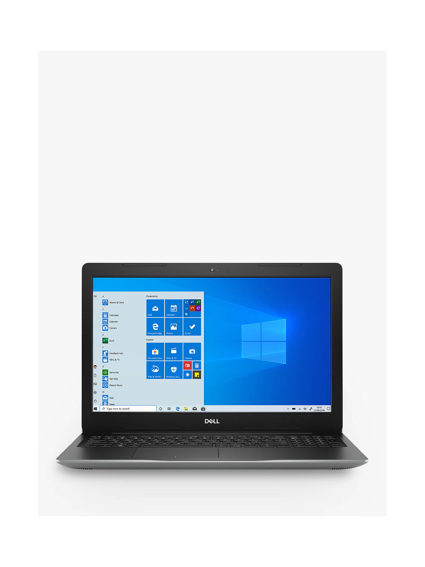 "Buy Dell Inspiron 15 3585 Laptop, AMD Ryzen 5, 8GB RAM, 256GB SSD, 15.6"" Full HD, Silver Online at johnlewis.com"