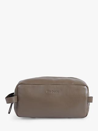 5da3b3193593 Barbour Farsley Leather Wash Bag