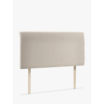 John Lewis & Partners Bedford Upholstered Headboard, Double, Canvas Pebble